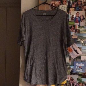 Madewell basic gray T-shirt.